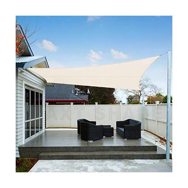 AXT SHADE Voile d'ombrage Imperméable Carré 2 x 2m Une Protection des Rayons UV pour Extérieur/Terrasse/Jardin – Coloris…