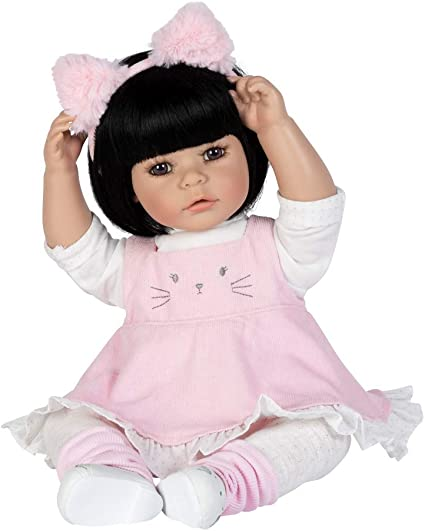 Brown hair Toddler Girl Doll 20 Inch Realistic Life Like Real Looking