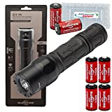 SureFire G2X-MV Maxvision 800 Lumen Handheld LED Flashlight with 4 Extra CR123A Batteries and Alliance Gadget Battery Case