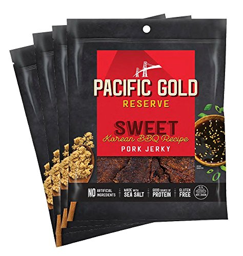(Pacific Gold Reserve Sweet Korean BBQ Pork Jerky, 2.5 Ounce (Pack of 4))