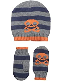Big Boys' Graham Knit Hat and Gloves Two-Piece Set