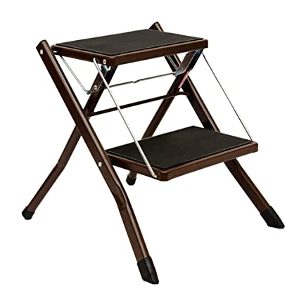 Outstanding Amazon Com Ninhxue Foldable Two Step Ladder Non Slip Ibusinesslaw Wood Chair Design Ideas Ibusinesslaworg