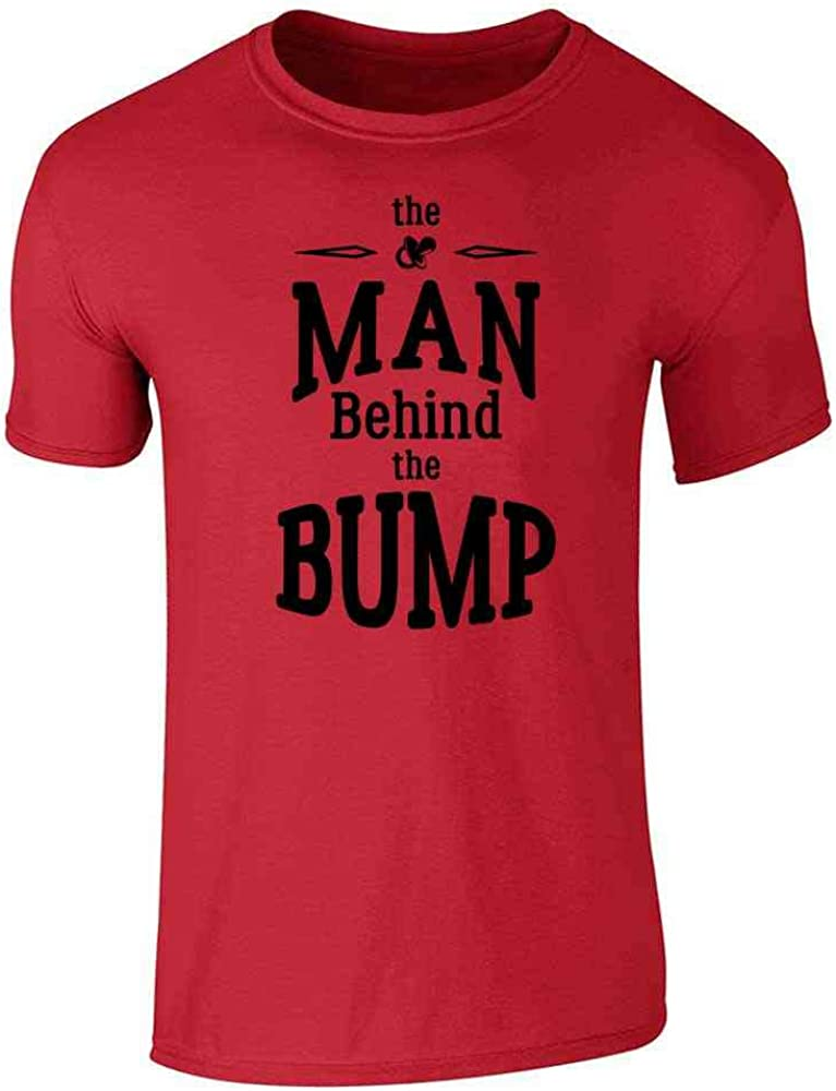 The Man Behind The Bump Gift for Dad Red 2XL Graphic Tee T-Shirt for Men