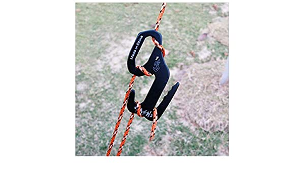 Aluminum Rope Tightening Mechanism With Carabiner Clip 4 Pcs