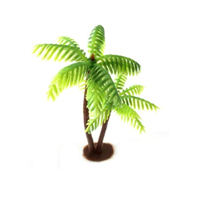 SUPVOX Coconut Palm Model Trees Scenery Model Miniature Plastic Artificial Layout Rainforest Diorama Building Model Trees Cake Topper: Home & Kitchen