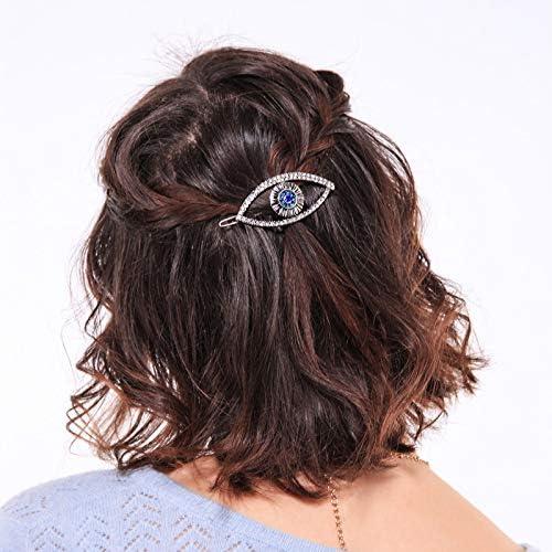 DARLING HER Flower Hair Clip Rhinestone Barrette Hairpin Circle Hairgrips Women Accessories Simple Design Hair Side Holder Bijouterie