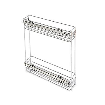 Emuca 8923611 Ausziehbarer Flaschenhalter für Küchenmöbel in Stahl ...
