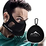 Elevation Training Mask by Prime Athletics - High Altitude Sport Workout Simulation - Cycling Running Fitness - 16 Levels / 3 Methods = 48 Total Air Flow Effects + Travel CARRYING CASE