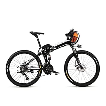 LANKELEISI TX660 240W 36V 15Ah 26 Bicicleta Eléctrica 27 Velocidad, Doble Suspensión,