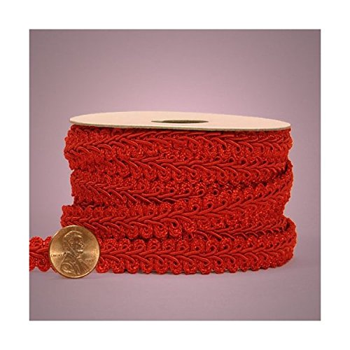 - Red Gimp Braid Trim, 5/8