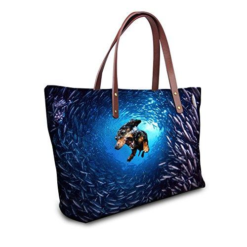 Tote 2 1 Femme Multicolore Showudesigns Couleur Bag AqdA6O