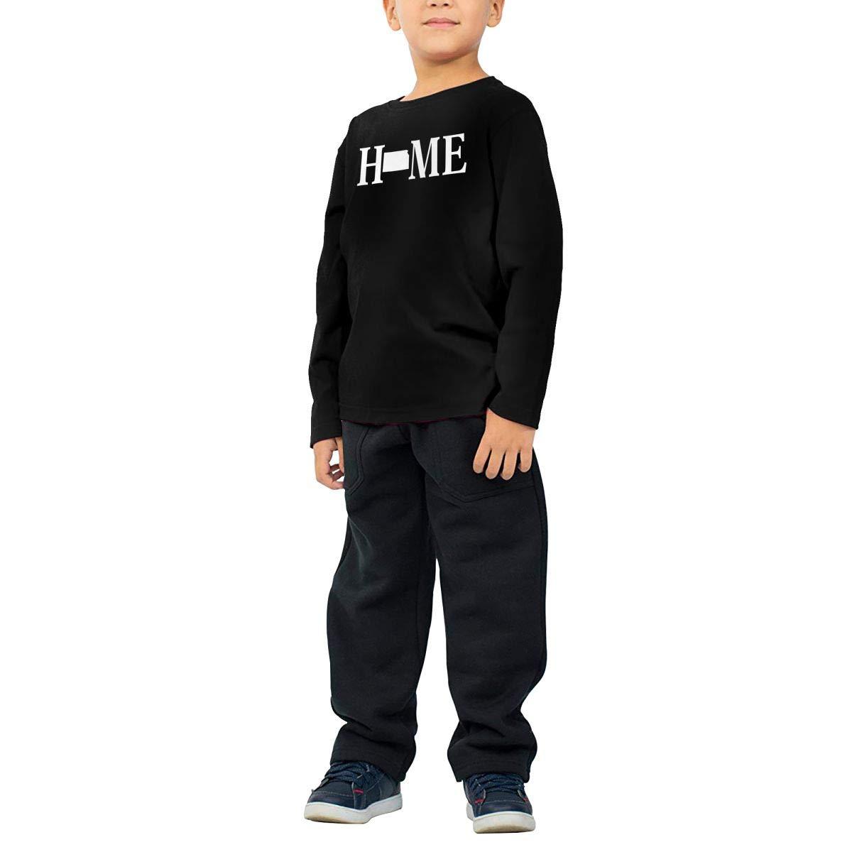 HADYKIDSLOVE Kansas State Home Kids T-Shirt Long Sleeve Boys Girls T-Shirt