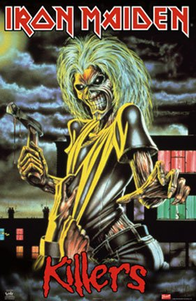 IRON MAIDEN - FAMOUS KILLER POSTER - NEW 24X36 (Iron Maiden Killers Poster compare prices)
