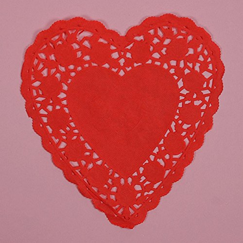 (6 inch Red Heart Paper Doilies - 1000 Pack)