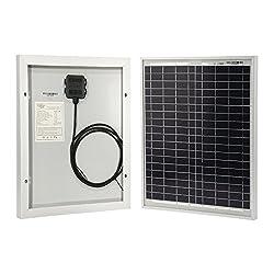 HQST 20 Watt 12Volt Off Grid Polycrystalline Portable Solar Panel for RV Marine Boat