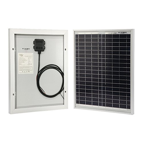 - HQST 20 Watt 12Volt Off Grid Polycrystalline Portable Solar Panel for RV Marine Boat