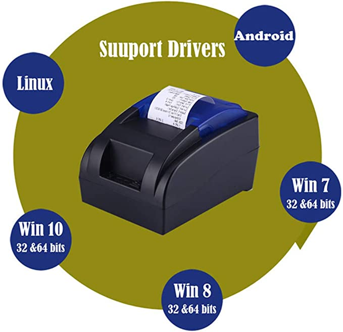 Amazon.com: SMBYQ Thermal Receipt Printer, Portable 58MM USB ...