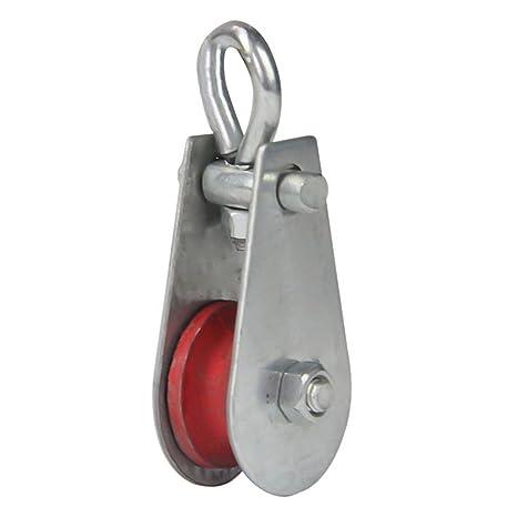 UKCOCO Rodillo de la polea del eslabón giratorio de la sola rueda del bloque de la