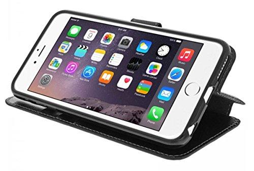 COQUE ETUI POCHETTE HOUSSE FOLIO PORTEFEUILLE iPHONE 6 PLUS, iPHONE 6S PLUS - CONTOUR INTÉRIEUR SILICONE INCASSABLE