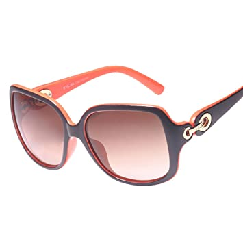 Gafas de sol @Gafas Gafas de sol polarizadas Lady Retro Fashion Frame Personality UV Gafas