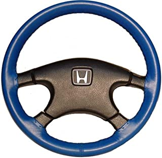 product image for Wheelskins Genuine Leather Cobalt Steering Wheel Cover Compatible with Volkswagen Vehicles -Size C