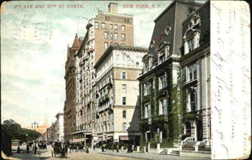 5Th Ave And 57Th St. North New York, New York Original Vintage - 5th Ave And 57th