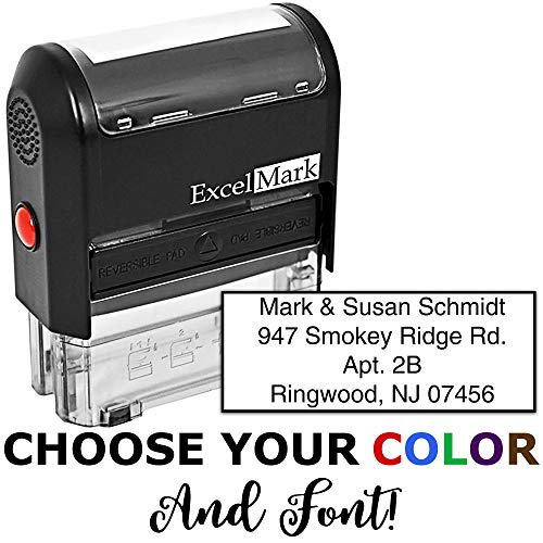 Self Inking Rubber Stamp with up to 4 Lines of Custom Text -