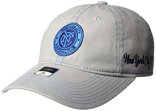 fan products of MLS New York City FC Adult Women MLS SP17 Neon Logo Adjustable Slouch Cap,Osfa,Gray