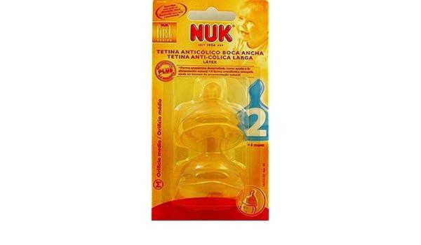 NUK - TETINA NUK FC 2M LATEX 2 U: Amazon.es: Bebé