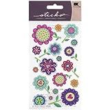 Sticko Designer Flowers Stickers