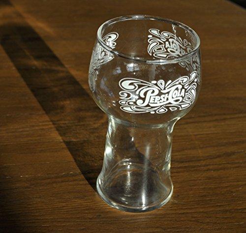 Glasses Pepsi (Old Fashioned Pepsi Cola Fountain Glass, Vintage Style Pepsi Glass 6 inch)