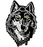 Patch ecusson brodé wolf loup no club biker thermocollant moto