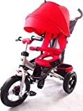 NEW DESIGN LITTLE TIGER 4 IN 1 KIDS TRIKE TRICYCLE WITH ROTATING SEAT, RECLINING BACKREST(RED)