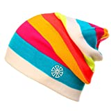 Men & Women Rainbow Color Winter Knitted Hats-Outdoor Sport Skiing