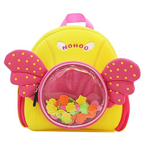 Price comparison product image BINGONE NOHOO Kids Shoulder Bag 3D Cartoon Zoo Animal Pre School Backpack Pink Girl 2-8 years old Angel