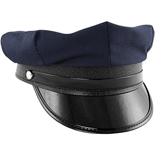 Jacobson Hat Company Men's Chauffer Hat, Navy,