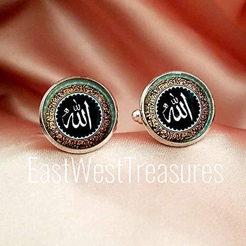 Lapel Tie Pin Brooch Ramadan Islamic Gifts for Men him Allah Arabic Cufflinks Cuff Links