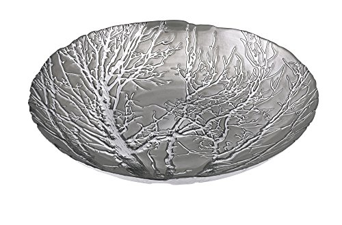 IMAX 83252 Ethereal Tree Bowl - Silver (Round Silver Plated Bowls)