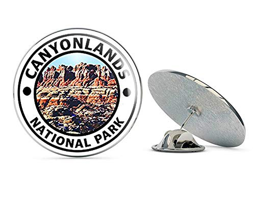 NYC Jewelers Round Canyonlands National Park (Hike Travel rv) Metal 0.75