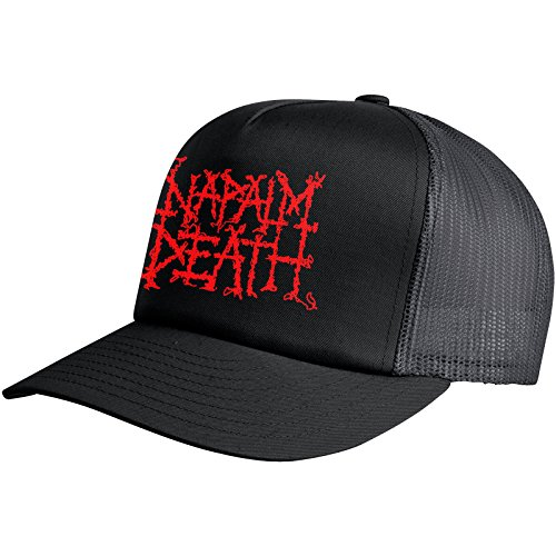 [해외]Napalm Death Men 's Logo 트럭 캡 검정/Napalm Death Men`s Logo Trucker Cap Black