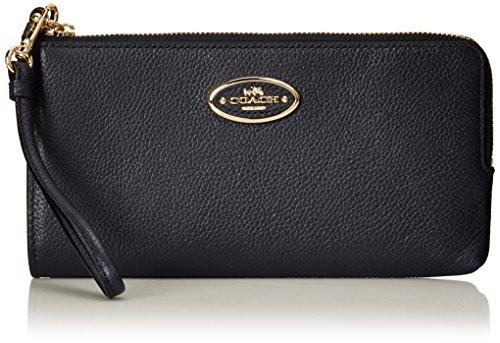 Coach L Zip Wallet Refined Leather