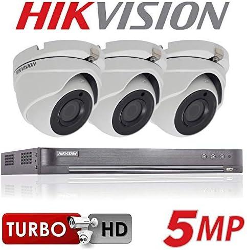 Full Kit + 3x Cameras + 2TB 4CH Hikvision 5MP CCTV Security System 3x HIKVISION Cameras 4K Resolution DS-7204HUHI//K1 DVR 2TB HDD