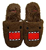 Domo Kun Face Furry Womens Slippers