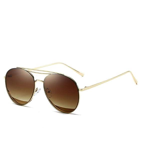 b8b80ec14b Fuolee Gafas de sol estilo retro Montura ovalada grande Lentes de sol de  color Gafas de sol: Amazon.es: Ropa y accesorios