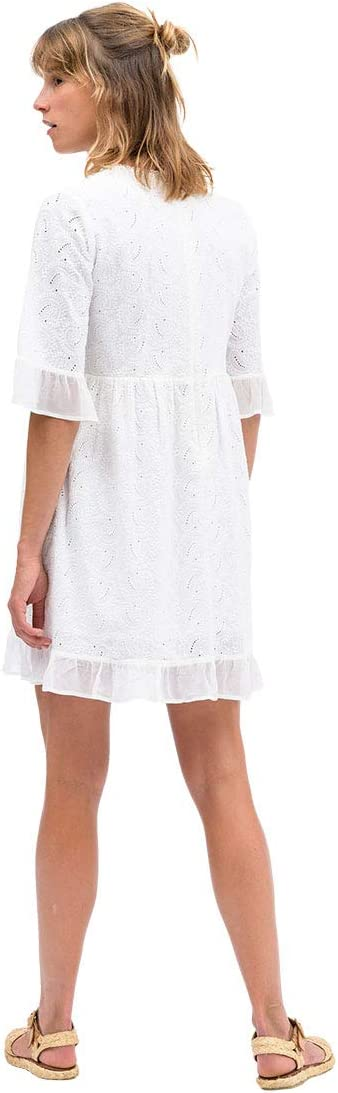 Taille Fabricant : 3 Blanc OxbOw M1DONATA Robe Femme FR : L