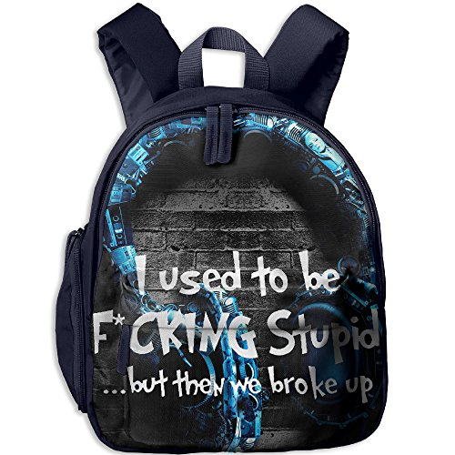 I Used To Be Fucking Stupid Hot Sale Child Shoulder School Bag School Backpack Satchel For Teens Boys Girls Students (Good Halloween Costume Ideas For College Males)
