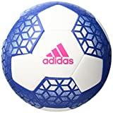 adidas Performance Ace Glider Soccer Ball, White/Blue/Shock Pink, Size 4