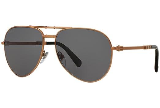 88bdb51333 BVLGARI Le Gemme Black Rose Gold 18K Plated POLARIZED Foldable Sunglasses  5034