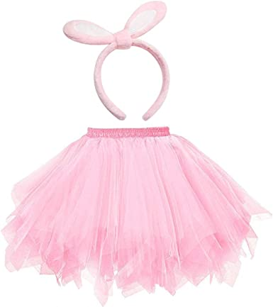 Falda tutu mujer, Lovely Elastic Pink Tutu Skirt Net Tres capas ...