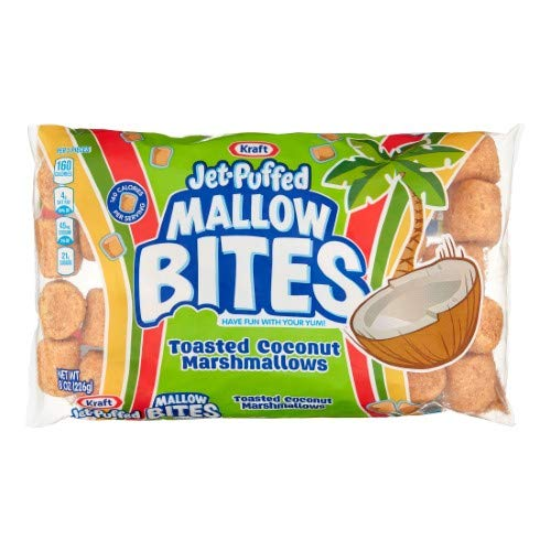 Kraft Jet-Puffed Mallow Bites, Toasted Coconut (Pack of 20)